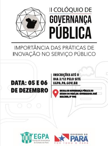 II Colóquio de Governança Pública